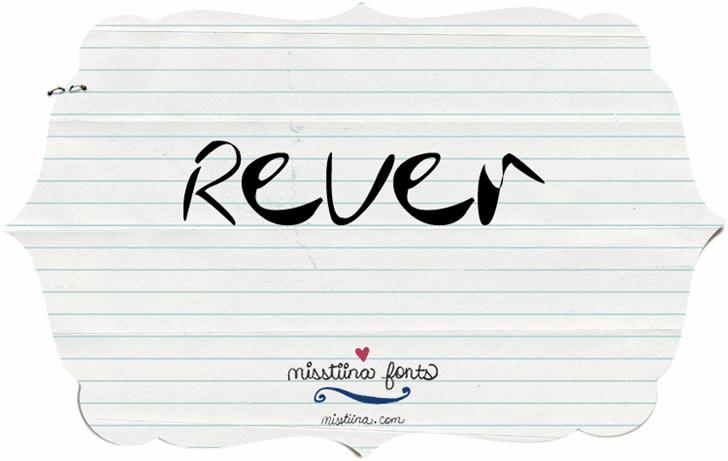 Image for MTF Rever font