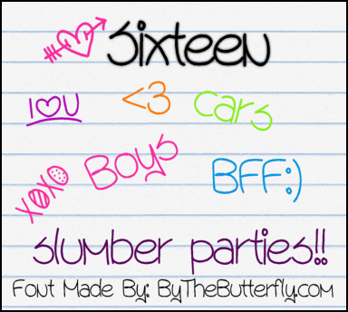 Sixteen font by ByTheButterfly