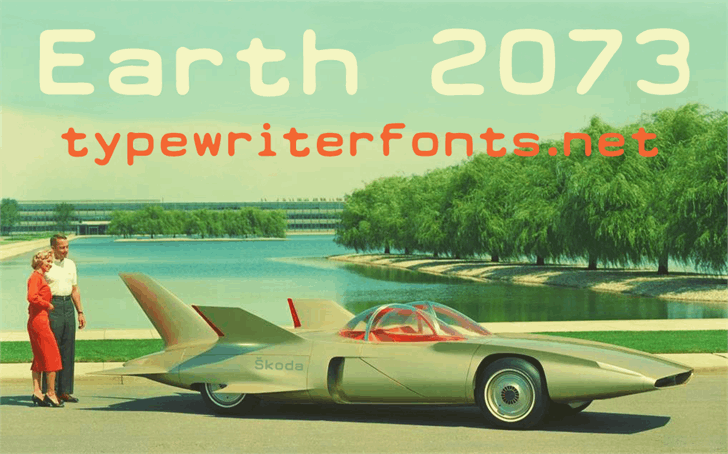 Earth 2073 font by Lukas Krakora
