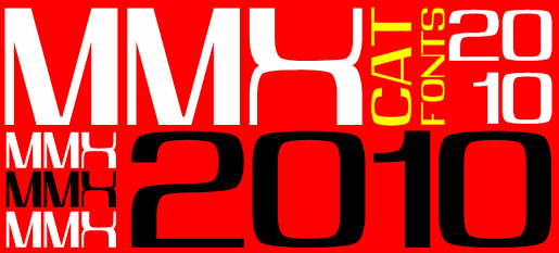 MMX2010 font by Peter Wiegel