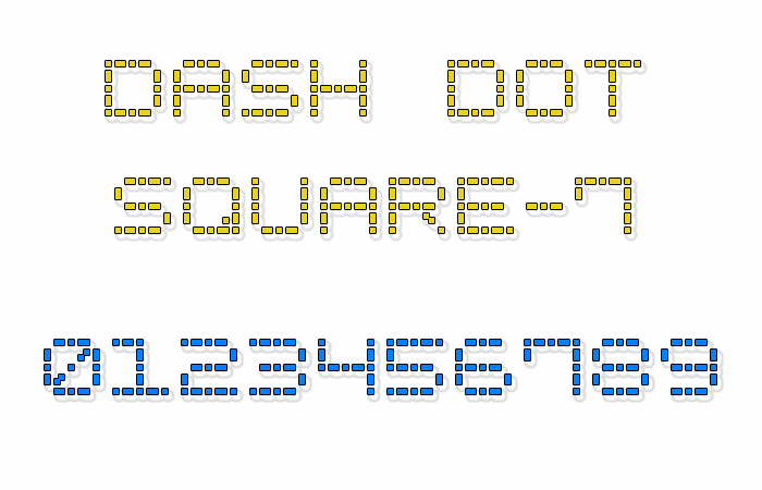 Image for Dash Dot Square-7 font