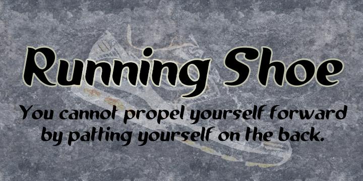 Image for Running shoe font