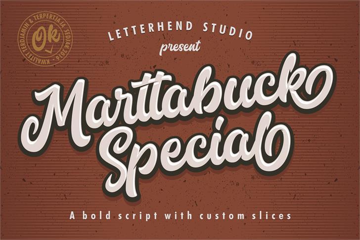 Marttabuck DEMO font by Letterhend Studio