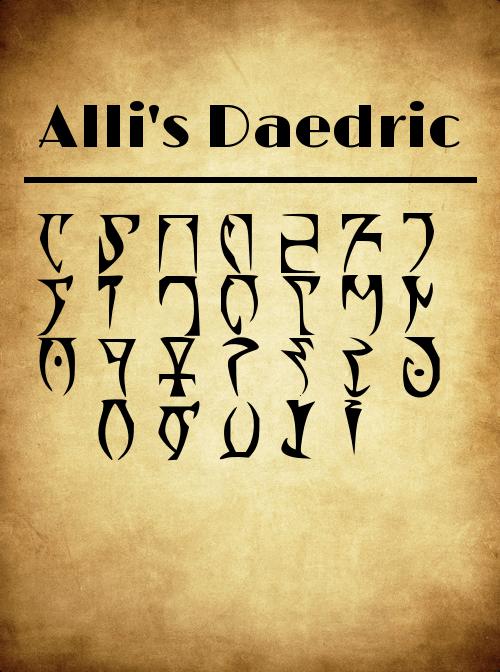 Image for AllisDaedric font