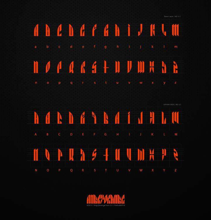Image for AngryOrange font