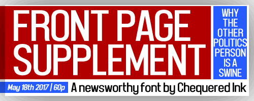 Image for Front Page Supplement font