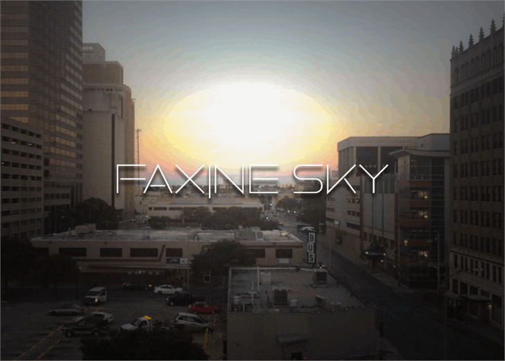 Faxine Sky font by Font Monger