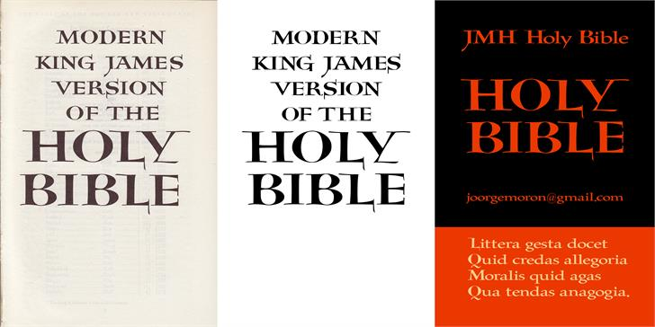 Image for JMH Holy Bible font