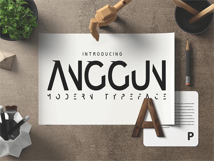 Anggun Sans font by madeDeduk
