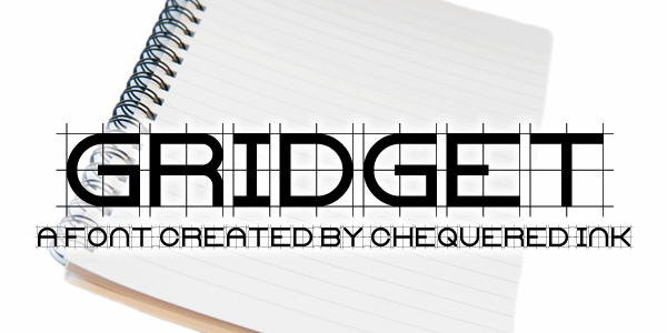Gridget font by Chequered Ink