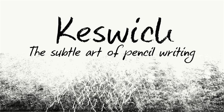 DK Keswick font by David Kerkhoff