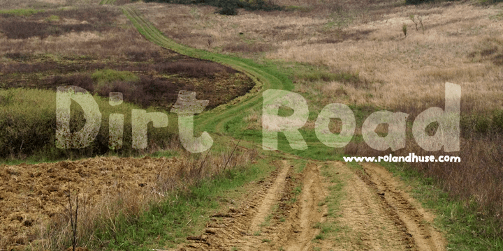 Dirt Road font by Roland Huse Design