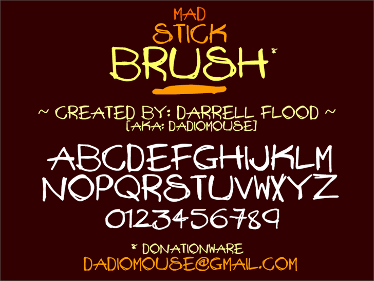 Image for Mad Stick Brush font
