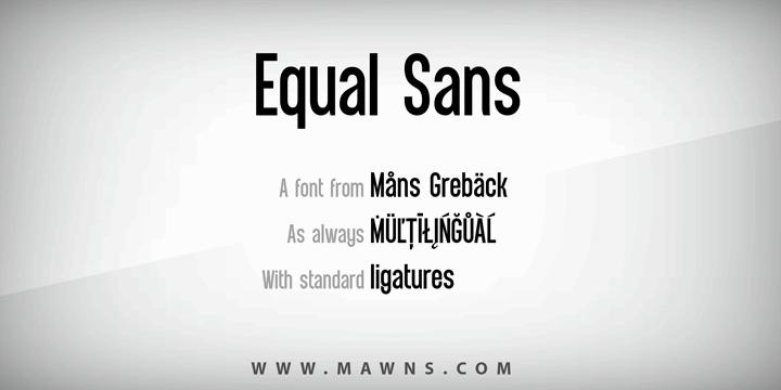 Image for Equal Sans Demo font
