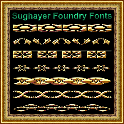 Vintage Borders_06 font by Sughayer Foundry