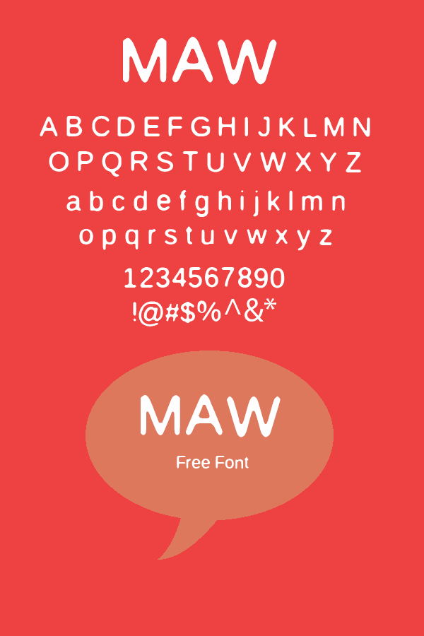 Image for MAW  font