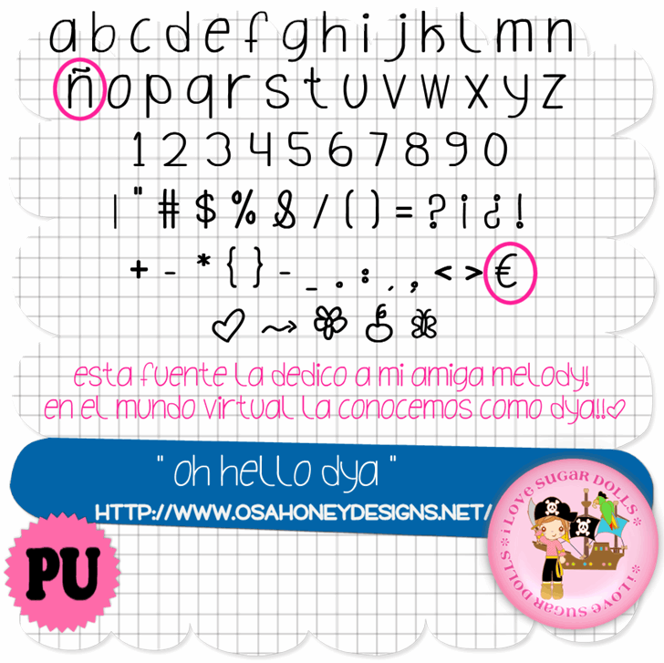 Image for Oh_Hello_Dya font