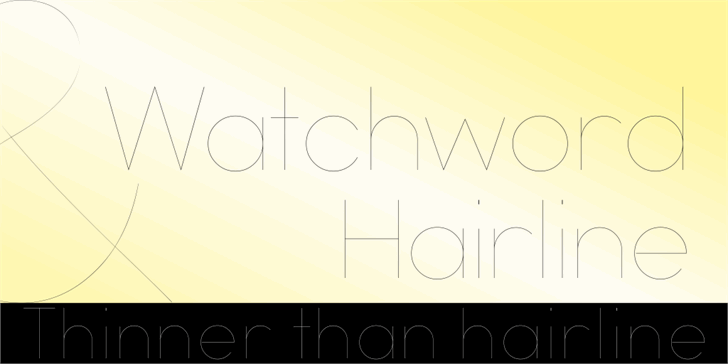 Watchword Hairline Demo font by studiotypo