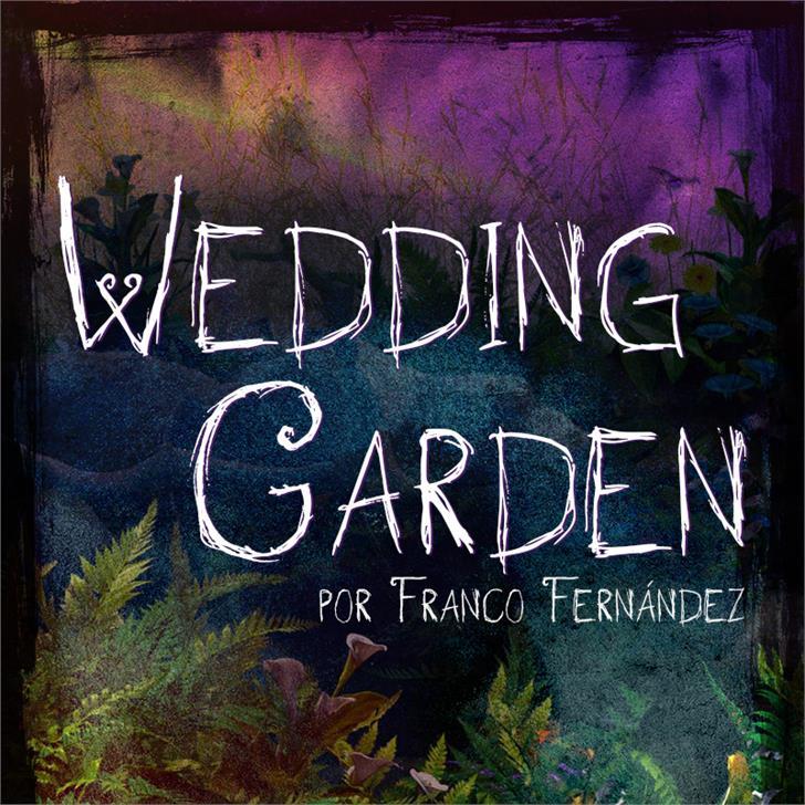 Image for Wedding Garden font