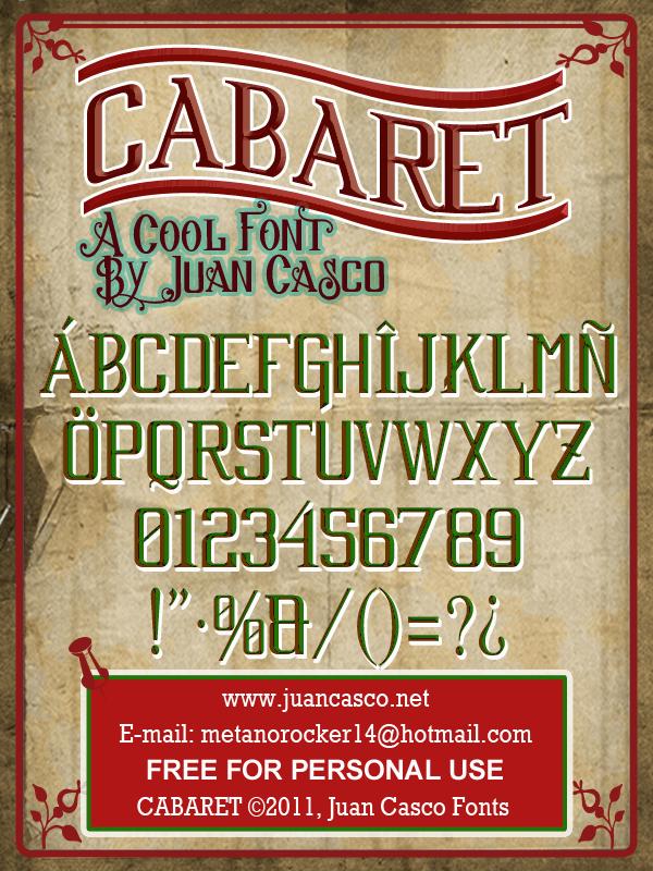 Image for Cabaret font