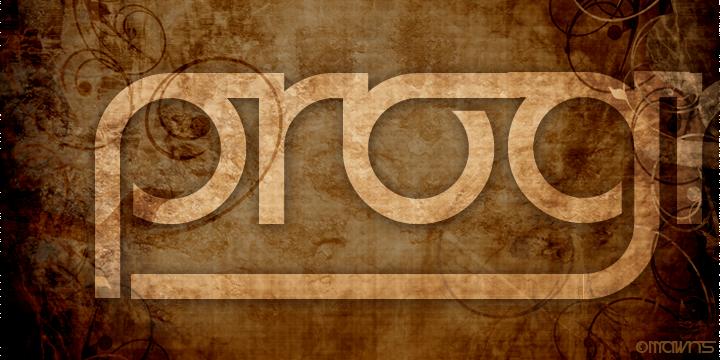 Prognostic font by Måns Grebäck