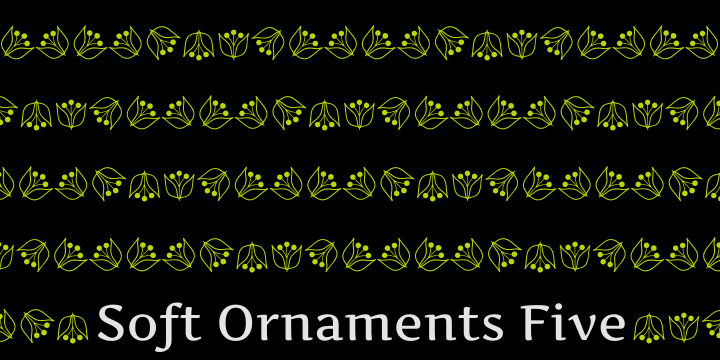 Image for Soft Ornaments Five font
