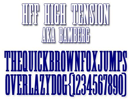 Image for HFF High Tension font