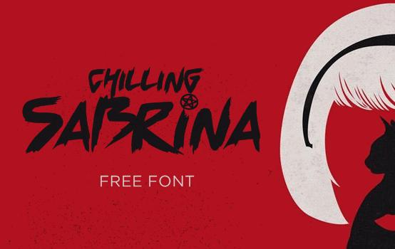 Chilling Sabrina font by Mawhrt