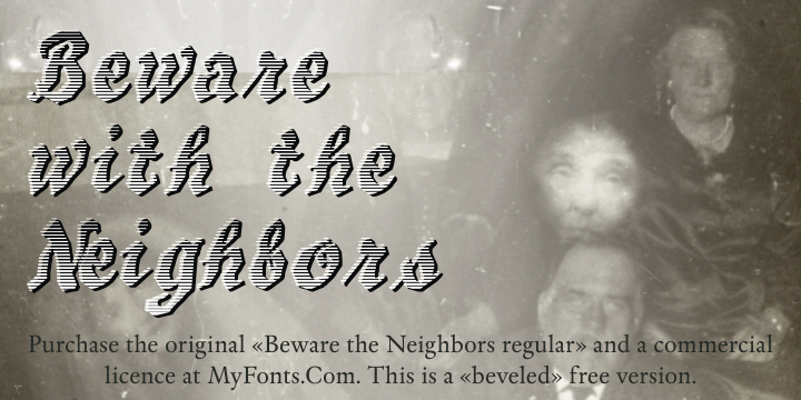 Image for BewareTheNeighboors Shadow font