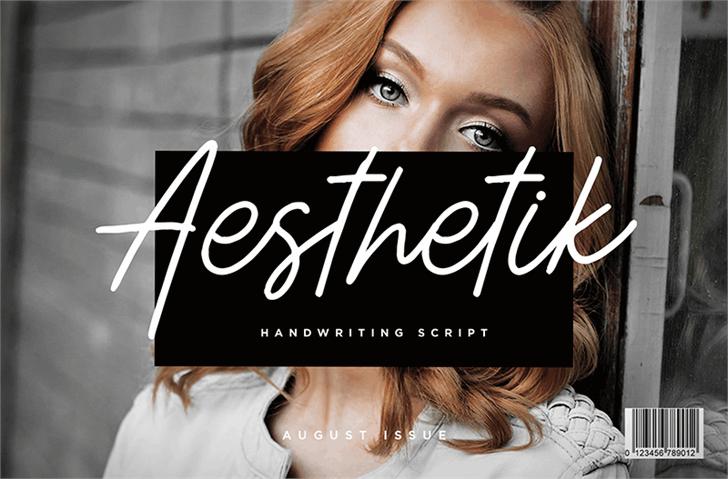 Image for Aesthetik Script font