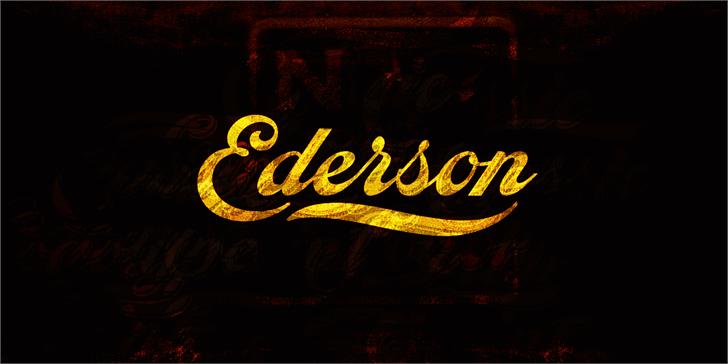 Ederson PERSONAL USE ONLY font by Måns Grebäck