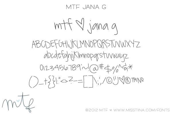 Image for MTF JanaG font
