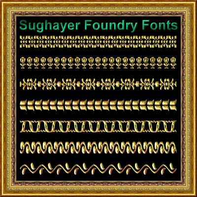 Vintage Borders_019 font by Sughayer Foundry