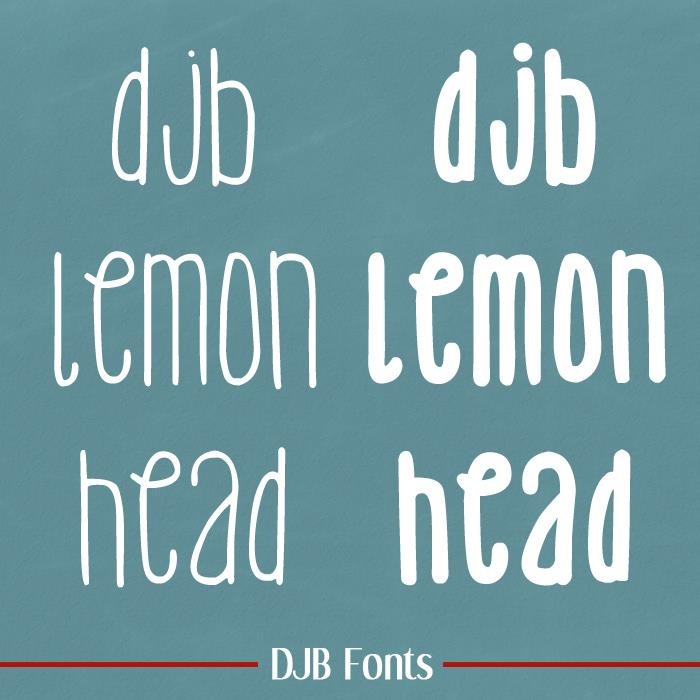 DJB Lemon Head font by Darcy Baldwin Fonts