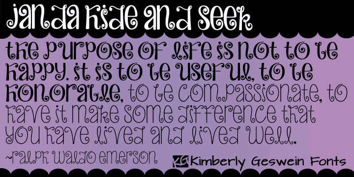 Image for Janda Hide And Seek font