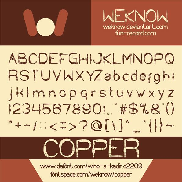 Image for COPPER font