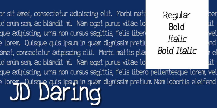 Image for JD Daring font