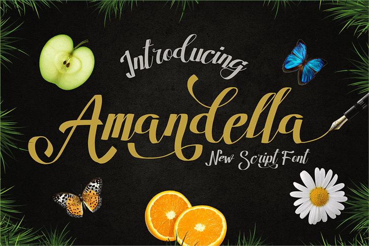 Image for Amandella Script font