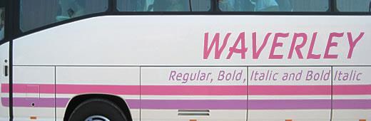 Image for Waverley font
