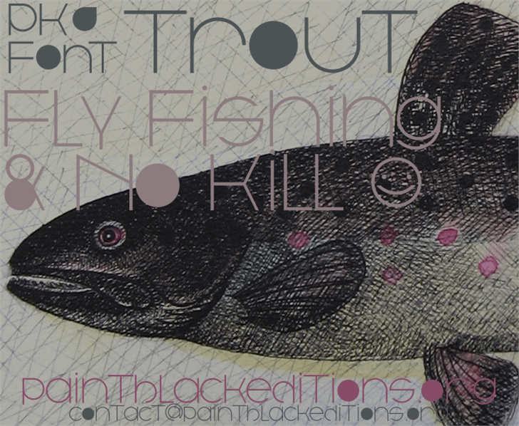 Trout font by paintblack éditions