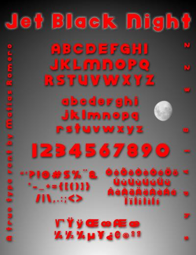 Image for Jet Black Night font