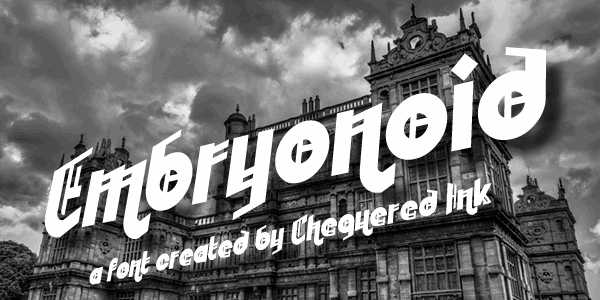 Embryonoid font by Chequered Ink