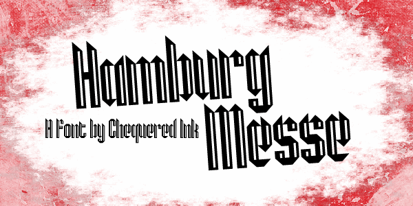 Hamburg Messe font by Chequered Ink