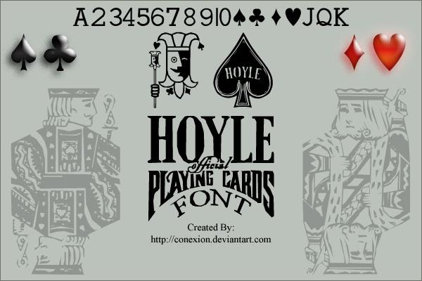 Hoyle Playing Cards font by Conexion