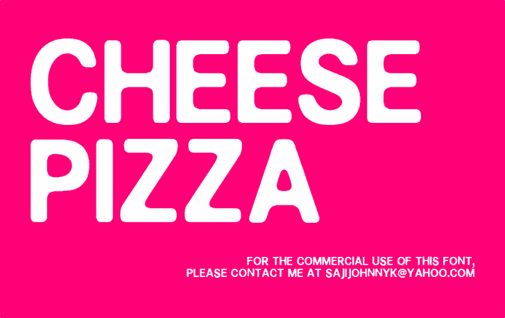 Image for CHEESE PIZZA font