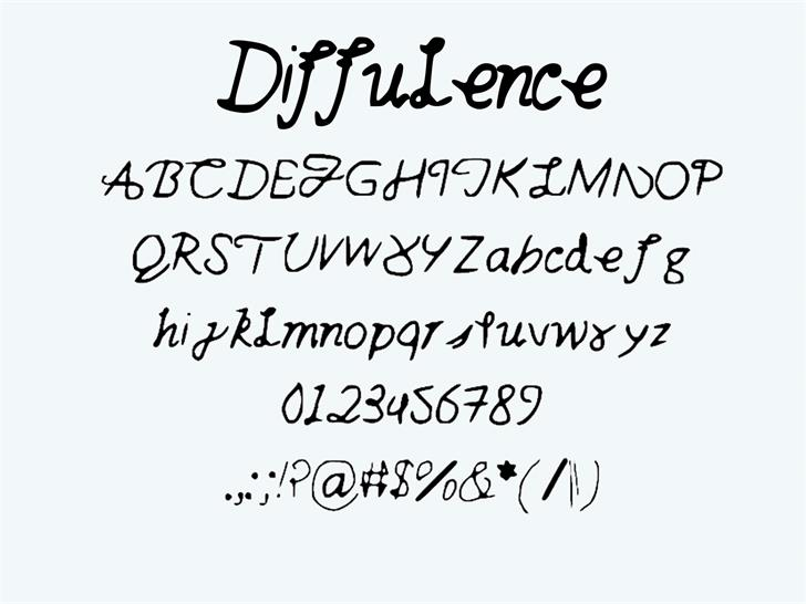 Image for diffulence font