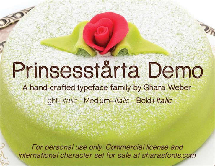 PrinsesstartaDEMO font by Shara Weber