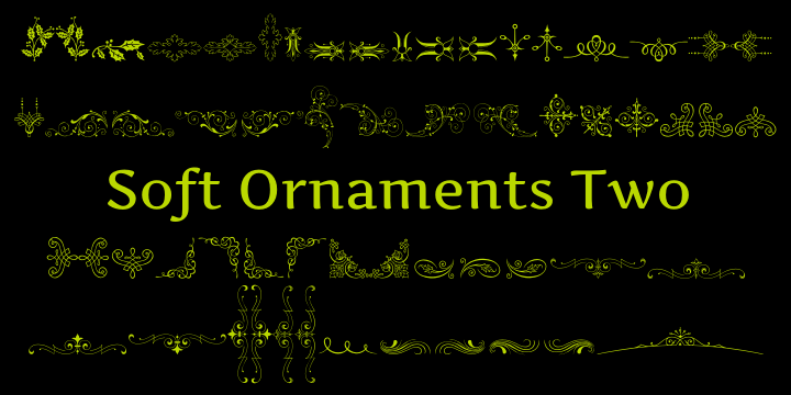Soft Ornaments Two font by Intellecta Design