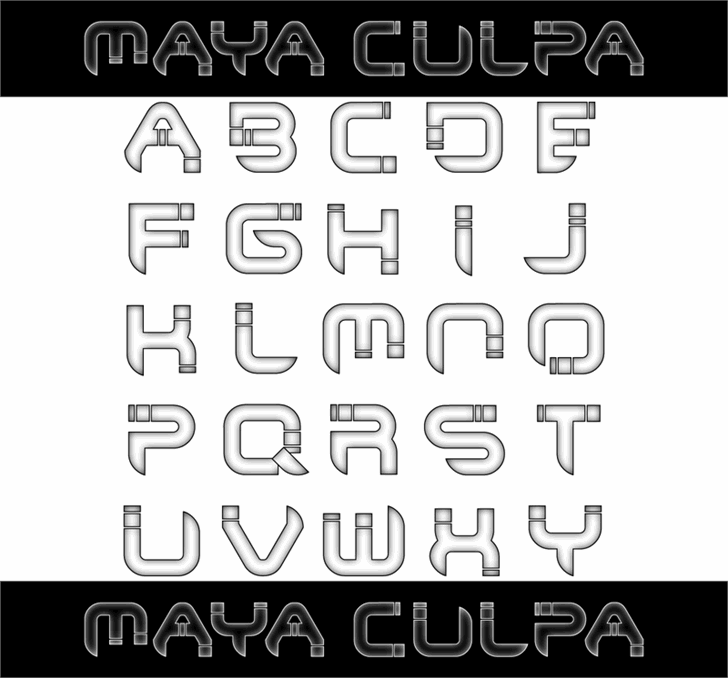 Maya Culpa font by 404maciej