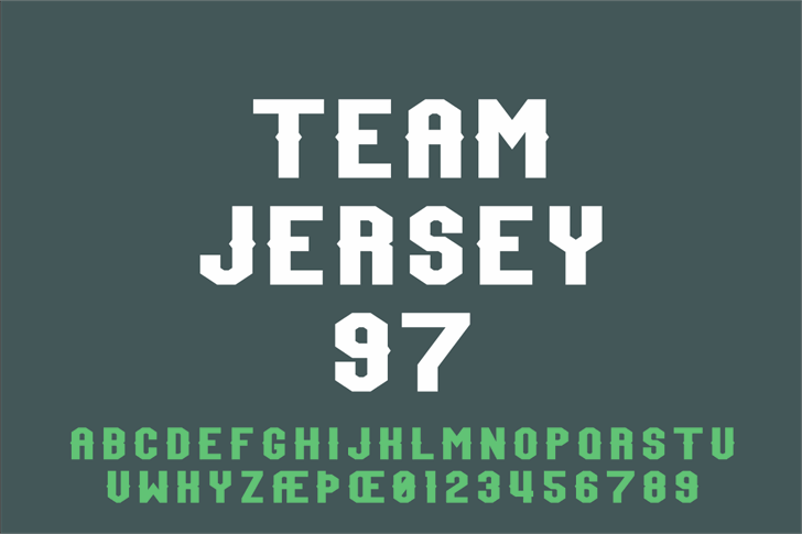 Team Jersey 97 font by Out Of Step Font Company